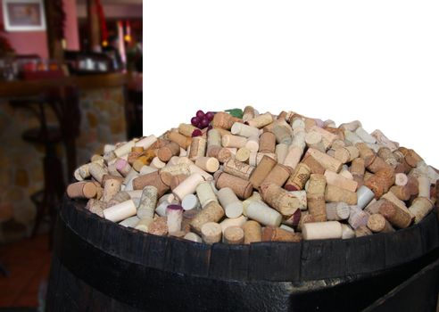 Barrel of a wine stoppers