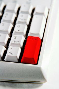 Desktop Keypad Enter Red