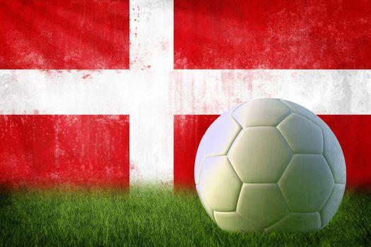 Denmark soccer grunge wall