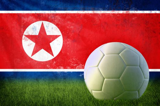 North Korea soccer grunge wall