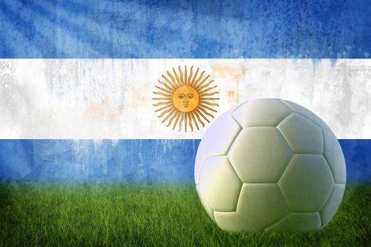 Argentina soccer grunge wall