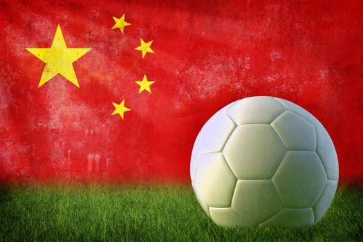 China soccer grunge wall