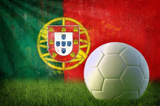 Portugal soccer grunge wall