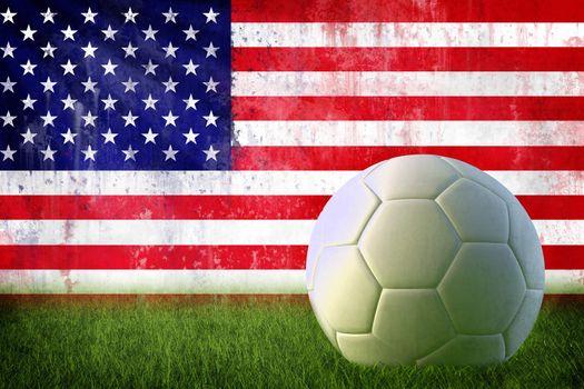 USA soccer grunge wall