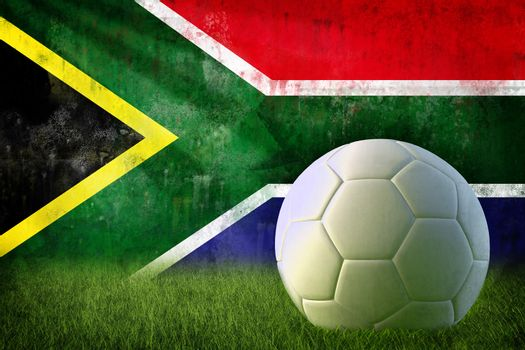 South Africa soccer grunge wall