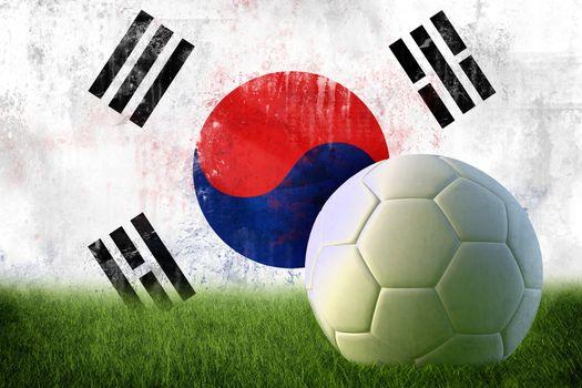 South Korea soccer grunge wall