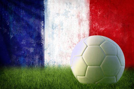 France soccer grunge wall