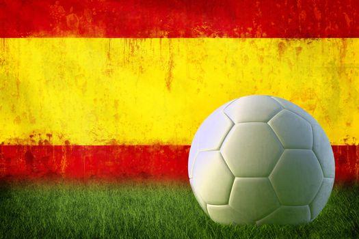 Spain soccer grunge wall