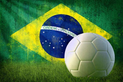 Brazil soccer grunge wall