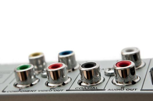 Audio visual sockets.