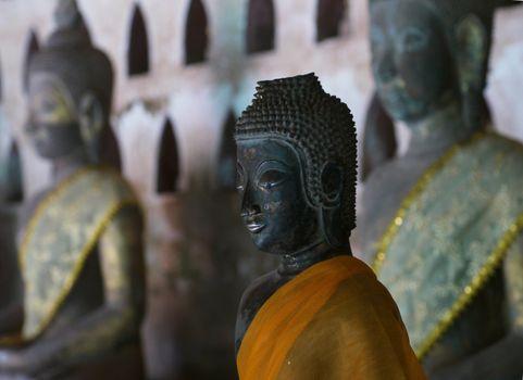 Buddha image in Vientiane, Laos