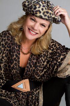 Leopard Print Woman