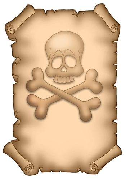 Pirate parchment A4