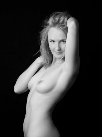 black and white charming nude