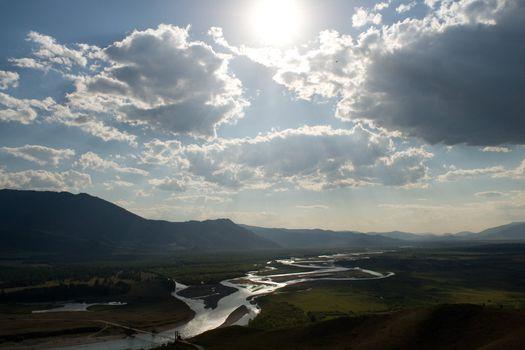 River dale at 95% sun eclipse