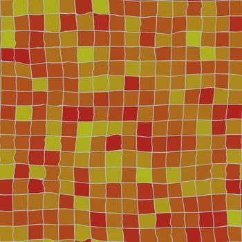 red orange ceramic tiles, will tile seamless as a pattern