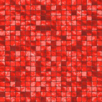 red ceramic tiles, will tile seamless as a pattern