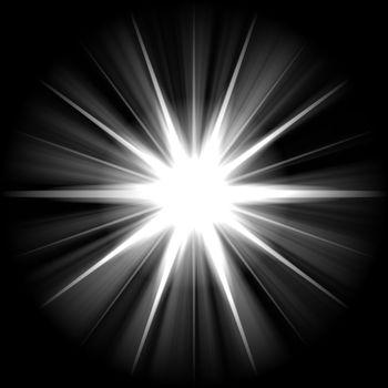 white blue star or supernova over black