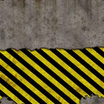 yellow black distressed hazard background, tiles seamless as a pattern