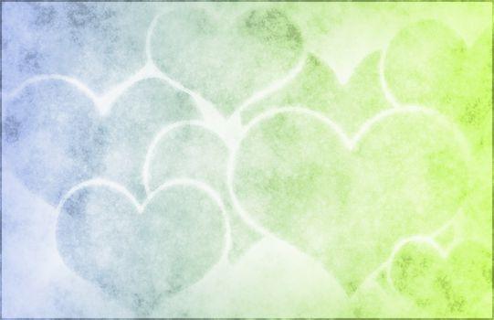 Romance On a Grunge Background Art Heart