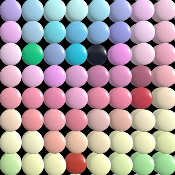 many pastel colored pills or sweets textured