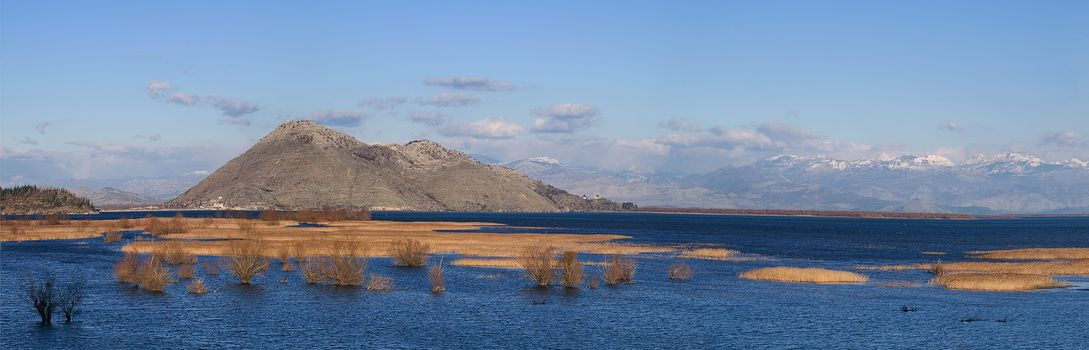 skadar lake in montenegro in december