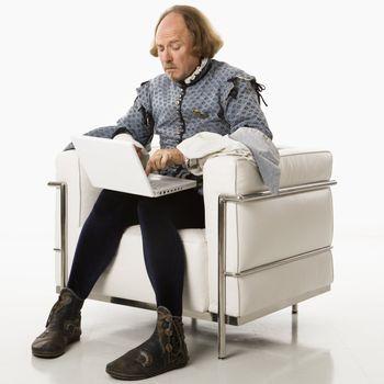 Shakespeare on laptop computer.