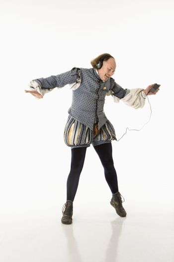 Shakespeare dancing to mp3s.