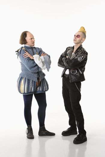 Shakespeare and punk man.