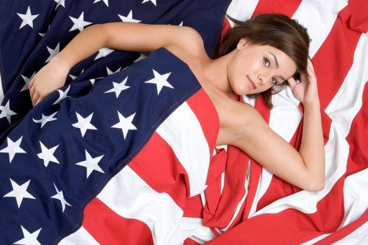 Patriotic Woman