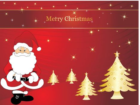 wallpaper, christmas vector background with santa claus
