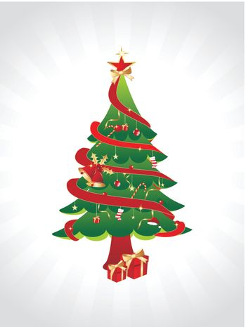 wallpaper, decorated christmas tree with ornaments