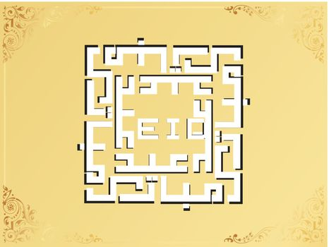 abstract frame with creative islamic background, design53