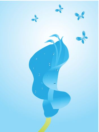 beautifull background with flower and butterfly design10
