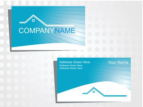 real state business card with logo_32