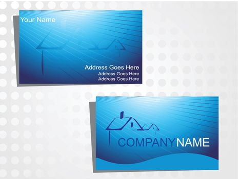 real state business card with logo_33
