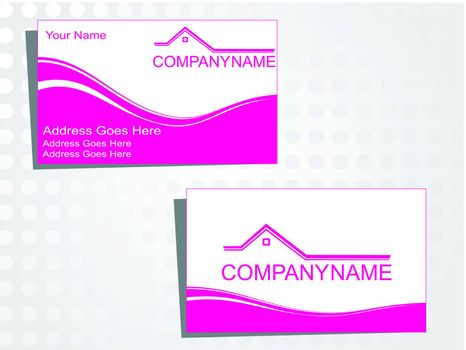 real state business card with logo_38
