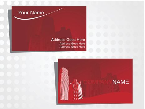 real state business card with logo_40