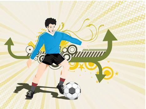 vector football player composition