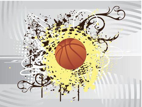 vector illustration of basketball
