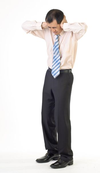 Business man under stress