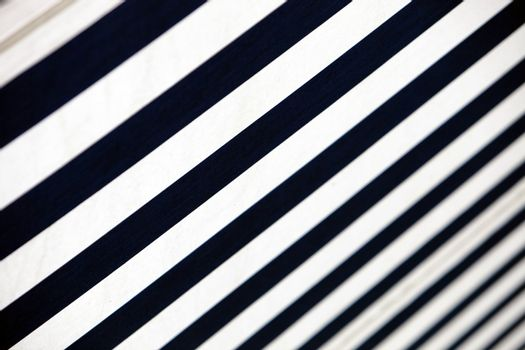 blue-white- striped awning - close-up
