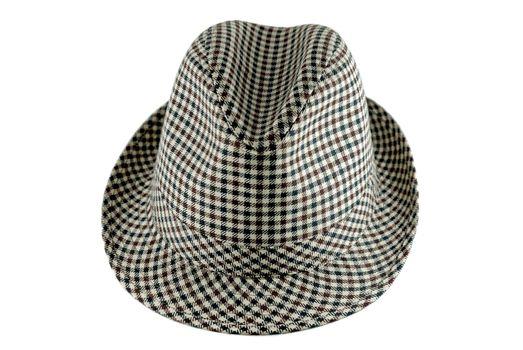 Beautiful hat on isolated white background