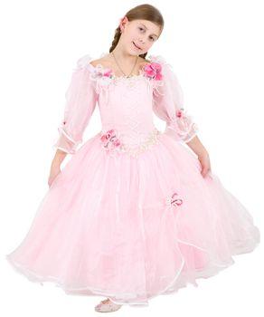 Girlie in pinkish dress
