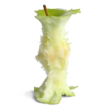 Isolated apple core