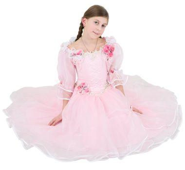 Girl in pinkish dress
