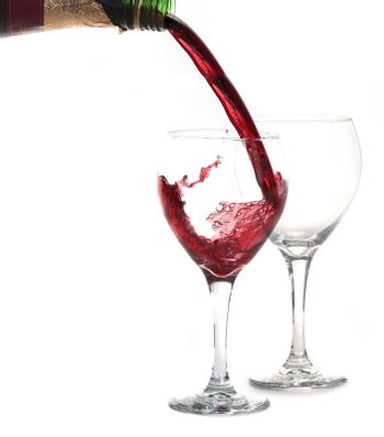 Merlot Red WIne Pouring into a Glass