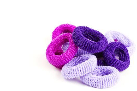 violet hair ties