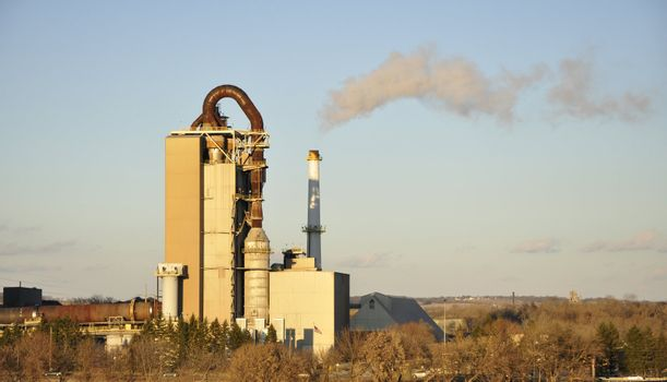 cement factory in late afternoon in Nazareth, Pennsylvania