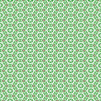 seamless background with festive green and red leaf shapes